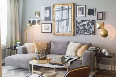 Incredible teal and silver living room design ideas 17