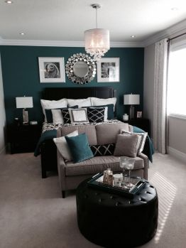 Incredible teal and silver living room design ideas 18