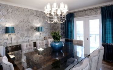Incredible teal and silver living room design ideas 22