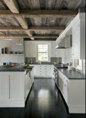 Inspiring black quartz kitchen countertops ideas 10