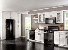 Modern cream painted kitchen cabinets ideas 22