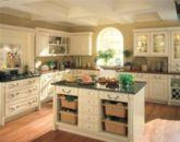 Modern cream painted kitchen cabinets ideas 29
