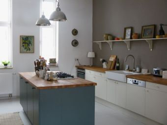 Modern cream painted kitchen cabinets ideas 34
