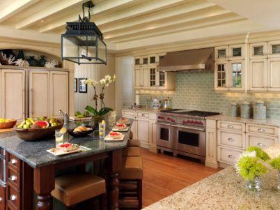 Modern cream painted kitchen cabinets ideas 55