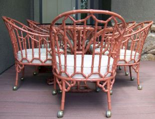 Painted faux bamboo furniture design 02