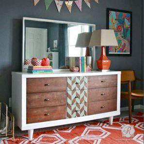 Painted mid century modern furniture 20
