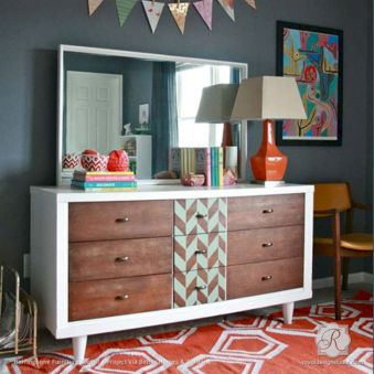Painted mid century modern furniture 20