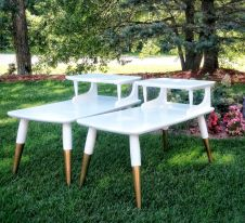 Painted mid century modern furniture 27
