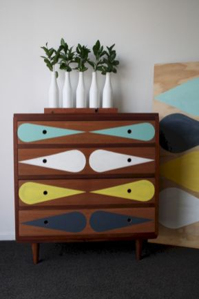 Painted mid century modern furniture 58