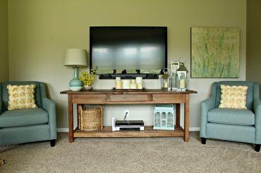 Simple living room design ideas with tv 11