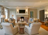 Simple living room design ideas with tv 18