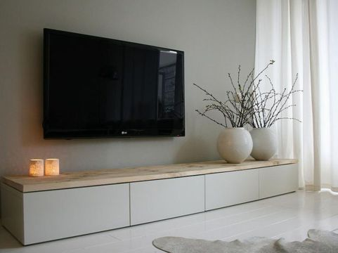 Simple living room design ideas with tv 19