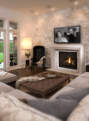 Simple living room design ideas with tv 37
