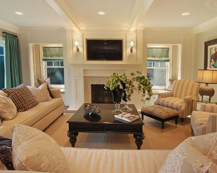 Simple living room design ideas with tv 42