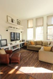 Simple living room design ideas with tv 45