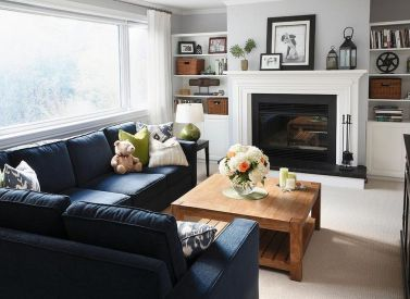 Simple living room design ideas with tv 48