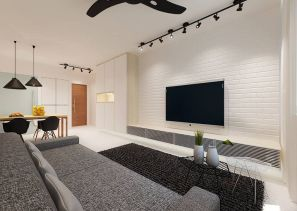 Simple living room design ideas with tv 56