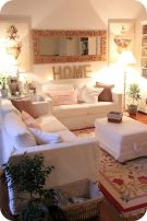 Simple and comfortable living room ideas 17