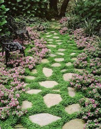 Stunning garden design ideas with stones 25