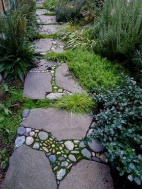 Stunning garden design ideas with stones 26