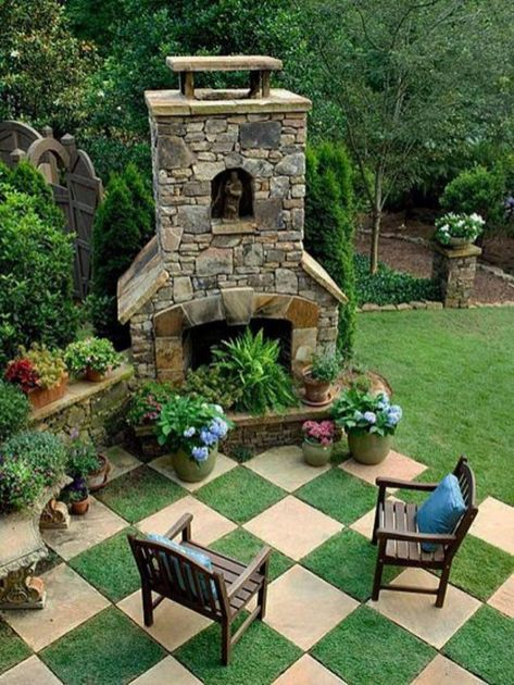 Stunning garden design ideas with stones 52