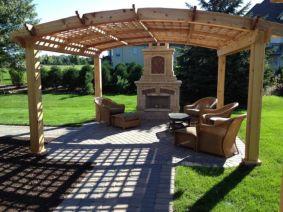 Stunning garden pergola ideas with roof 11