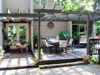Stunning garden pergola ideas with roof 44