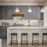 Stunning grey wash kitchen cabinets ideas 15