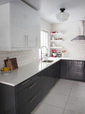 Stunning grey wash kitchen cabinets ideas 22