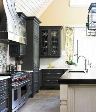 Stunning grey wash kitchen cabinets ideas 23