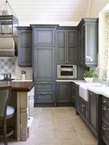 Stunning grey wash kitchen cabinets ideas 30