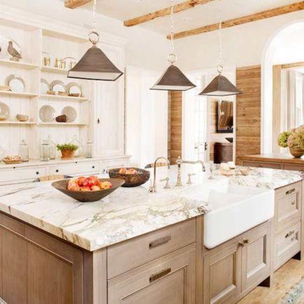 Stunning grey wash kitchen cabinets ideas 35