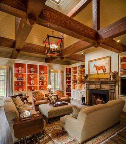 Stunning red brown and black living room design ideas 10
