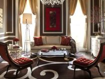 Stunning red brown and black living room design ideas 14