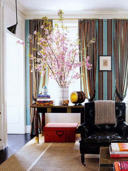 Stunning red brown and black living room design ideas 30