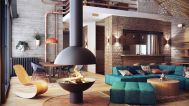 Stunning red brown and black living room design ideas 73