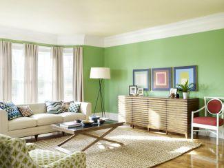 Stylish dark green walls in living room design ideas 09
