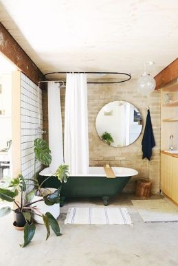 Stylish dark green walls in living room design ideas 17