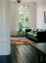 Stylish dark green walls in living room design ideas 19