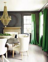 Stylish dark green walls in living room design ideas 20