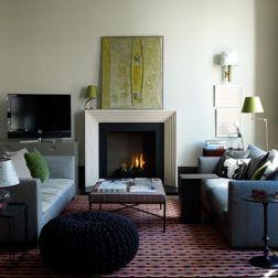 Stylish dark green walls in living room design ideas 25