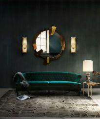 Stylish dark green walls in living room design ideas 42