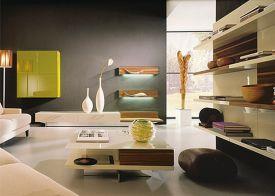 Stylish dark green walls in living room design ideas 67