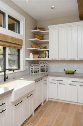 Stylish kitchen designs ideas with corner sinks 07