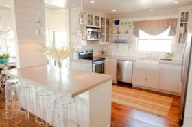 Stylish kitchen designs ideas with corner sinks 19