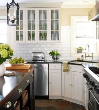 Stylish kitchen designs ideas with corner sinks 20