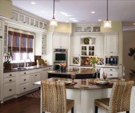 Stylish kitchen designs ideas with corner sinks 27