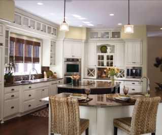 Stylish kitchen designs ideas with corner sinks 27
