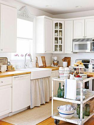 Stylish kitchen designs ideas with corner sinks 31