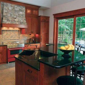 Stylish kitchen designs ideas with corner sinks 33